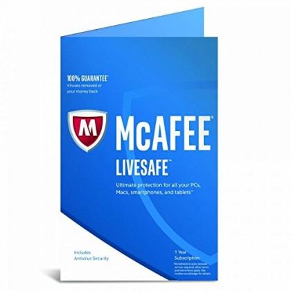 McAfee LiveSafe Internet Security 3 Year 1 PC Win / Mac
