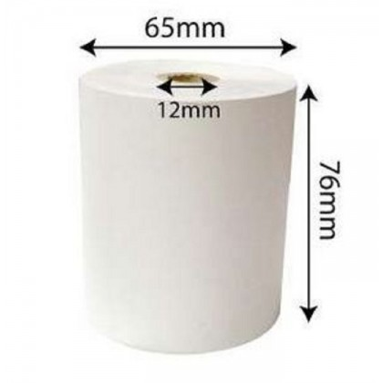 10 rolls 2ply NCR Dot Matrix Paper Roll For Receipt Printer - 76x65x12mm