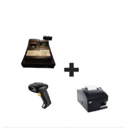 ASHICA Electronic Cash Register AC-ECR1000 (GST version)+Barcode Scanner+Thermal Receipt Printer*