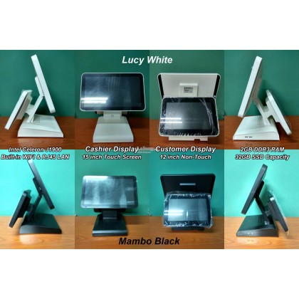 All in one Dual Screen POS System Touch Terminal Computer PC