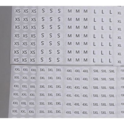 10mm round sticker barcode label blank adhesive sticker qc tag 10mm*10mm 8 row