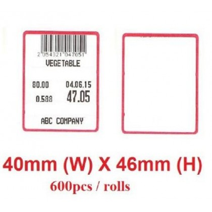 weighing scale labels 40mm x 46mm - 100rolls