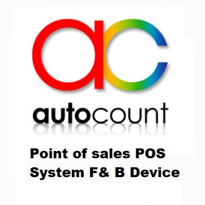 Autocount Point of sales POS System F& B Device