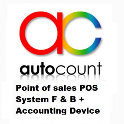 Autocount Point of sales POS System F & B + Accounting Device