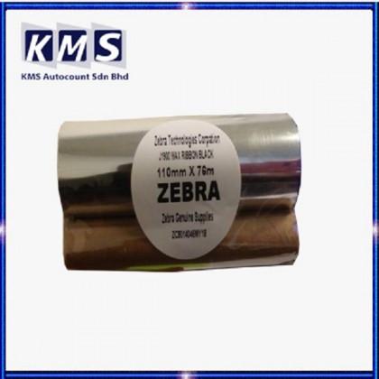 Zebra Wax Ribbon 110mm x 76m