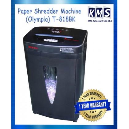 Paper Shredder Machine (Olympia) T-818BK
