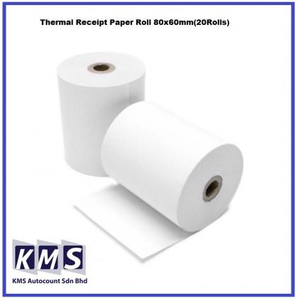 Thermal Receipt Paper Roll 80x60mm(20Rolls)