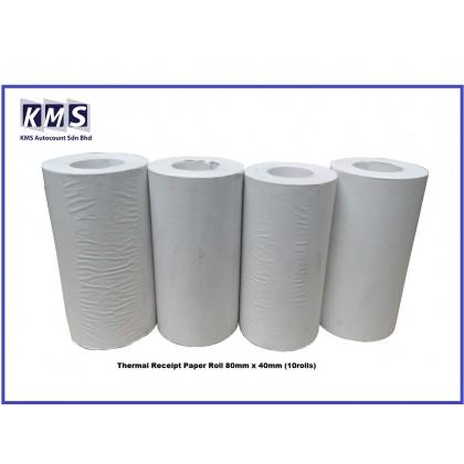 Thermal Receipt Paper Roll 80mm x 40mm (10rolls)
