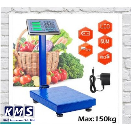 150kg High Precision Digital Electronic Weight Price Platform Scale Rechargeable (Random Colour)