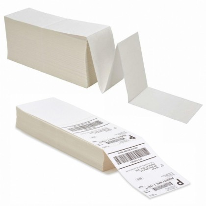 A6 Thermal Paper 100x150mm 10x15cm Thermal Label Paper Shipping Sticker Airway Bill Shopee Lazada Fanfold Stack