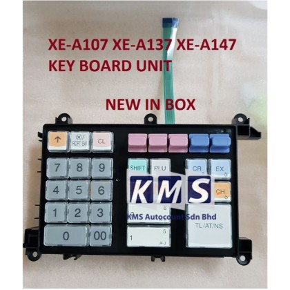 (PARTS) NEW KEY BOARD UNIT SHARP XE-A107 XE-A137 XE-A147 ELECTRONIC CASH REGISTER