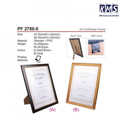 A4 CERTIFICATE FRAME - PF 2780-II A / B