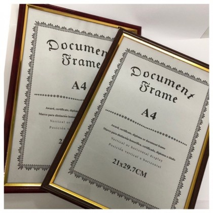 (READY STOCK) A4 Size Document Frame/ Photo Frame/Certificate Frame