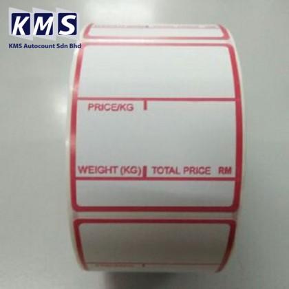 weight scale machine barcode sticker 40*46mm,600pc per roll. 电子秤纸40*46mm,600pc per roll