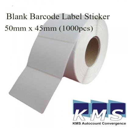 Blank Barcode Label Sticker 50mm x 45mm (1000pcs) (1roll)