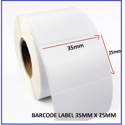 35mm x 25mm Blank Barcode Label Sticker Printing Labels Printer Sticker(2000pcs)