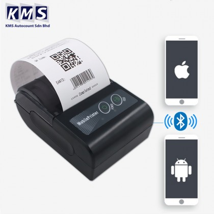 !!PROMO!! Bluetooth Thermal Receipt Printer 58mm SRS 69Topup Payhere POS Restaurant Barcode Label Printing